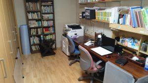 掃除後の仕事部屋