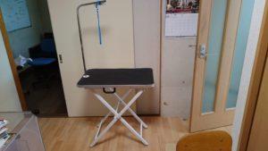 トリミングテーブルの写真