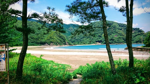 蒲江波当津海水浴場の写真