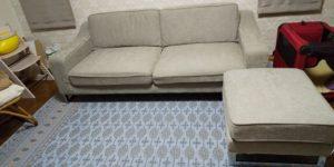 新しいソファと絨毯の写真